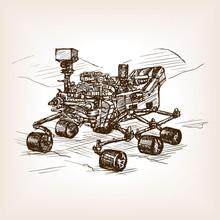 Mars Rover Sketch Vector Illus...