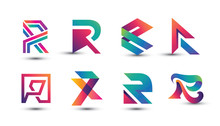 Abstract Colorful R Logo - Set...