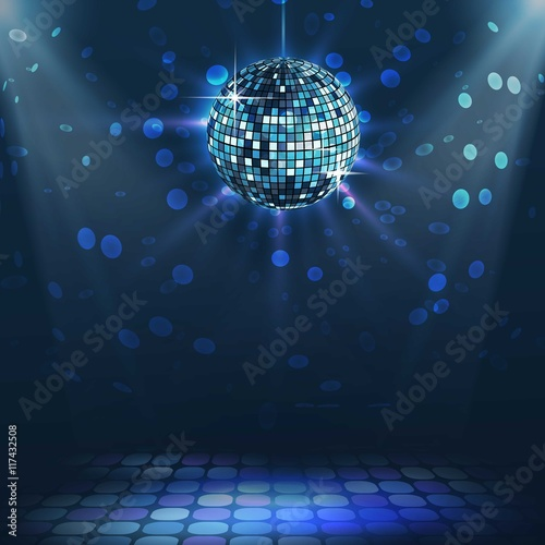 Fotografía  Bright disco ball