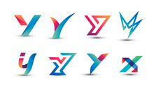 Abstract Colorful Y Logo - Set...