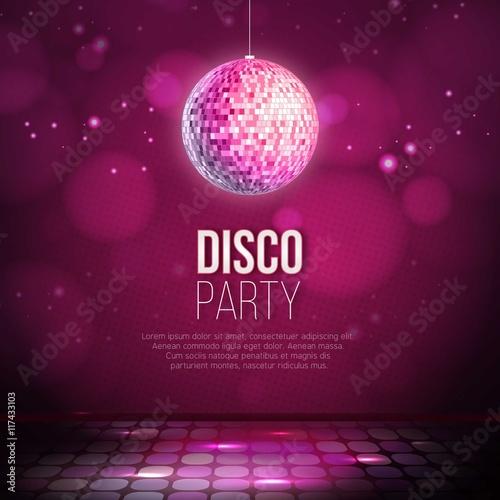 Fotografía  Disco party background