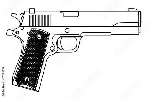 Fotografia, Obraz  45 Automatic Hand Gun