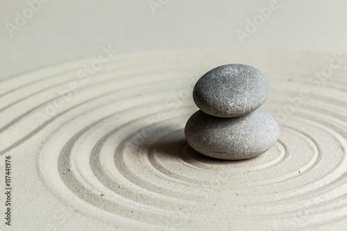 Photo Stands Stones in Sand Zen stone garden
