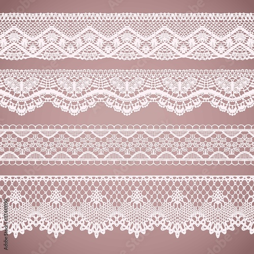 Lacy borders collection Tablou Canvas