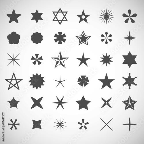 Fototapeta Star icons collection obraz na płótnie