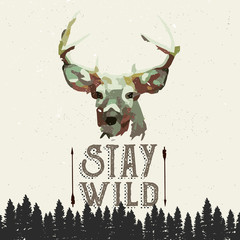 Panel Szklany Do sypialni wilderness poster concept