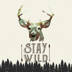 Fototapeta Do sypialni wilderness poster concept