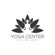 Yoga logo creative design vector