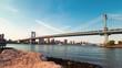 Time-lapse of the Manhattan Bridge from Brooklyn, New York