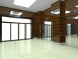 3d rendering of the elevator. Elevator doors
