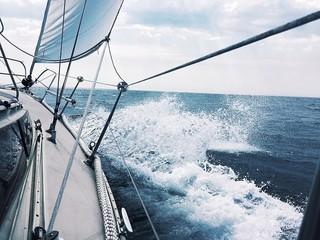 Plakat Segelspass auf der Nordsee