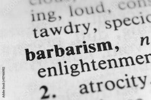 Fényképezés  Barbarism