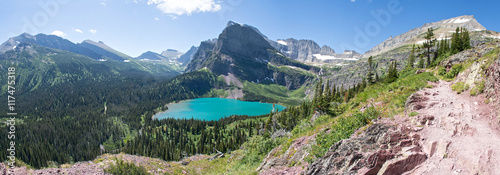 Grinnell Lake Panoramic - Glacier National Park Canvas-taulu