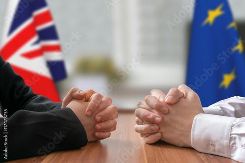 Fotografie, Obraz  Negotiation of Great Britain and European Union (Brexit)