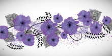 Purple Flowers Banner