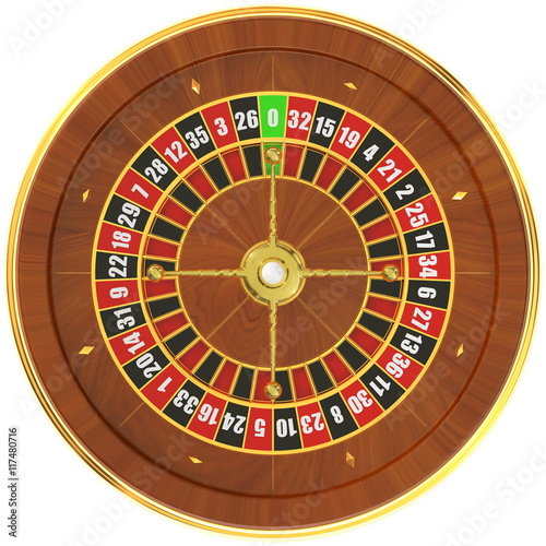 Fototapety, obrazy: Casino roulette, top view. 3D rendering