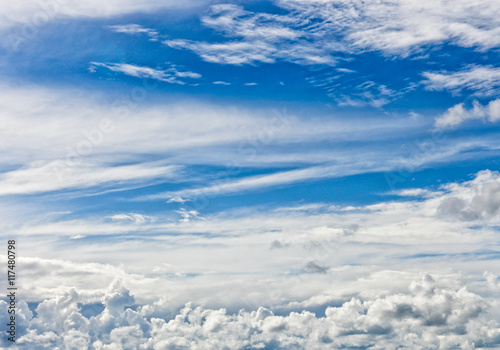 Poster Aurore polaire clouds in the sky