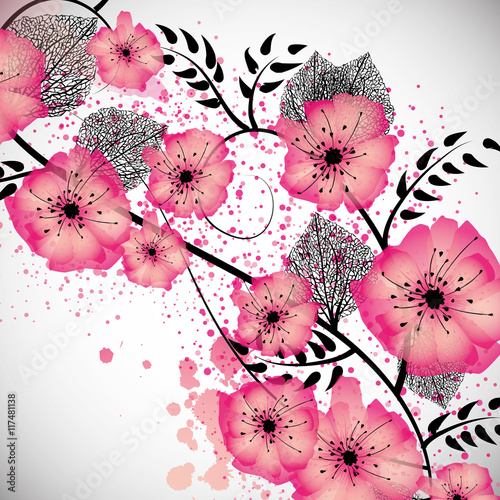 Sweet flowers background