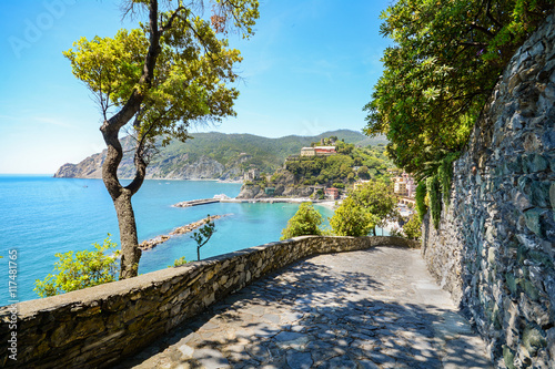 Photo  Cinque Terre: Hiking trail to Monterosso al Mare in early summer, Liguria Italy