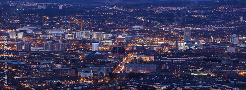 Aerial panorama of  Belfast Canvas Print