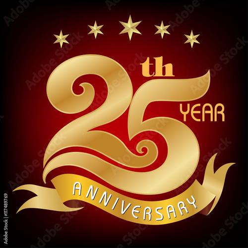 template logo 25th anniversary vector illustrator celebration logo rh stock adobe com 25th Anniversary Seal 25th Pastoral Anniversary