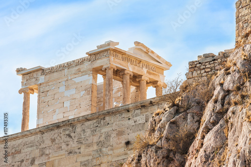 Staande foto Athene The temple of Athena Nike in Acropolis of Athens, Greece.
