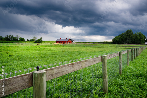 Amish county landscape in Lancaster, PA - Amish County Landscape In Lancaster, PA - Buy This Stock Photo And