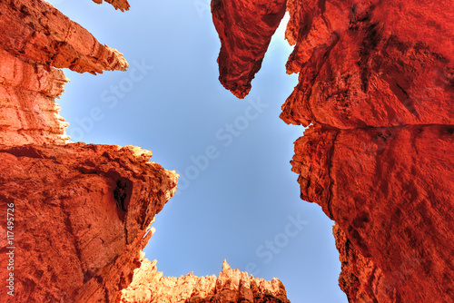 Spoed Foto op Canvas Rood traf. Bryce Canyon National Park