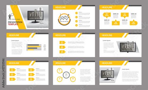Fotografie, Obraz  Set of presentation template.Use in annual report, corporate