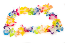Colorful Hawaiian Flower Necklace
