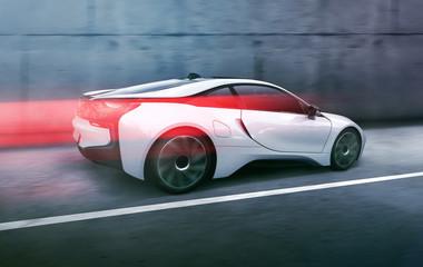 Obraz na płótnie Canvas Futuristisches Auto