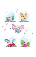 Małe bajkowe dzieci z kolor...