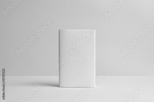 Fototapeta Hardcover Book Mock-Up - Dust Jacket. Front. Wall Background