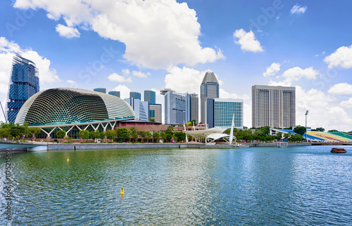 Esplanade Theaters on the Bay in the center of Singapore