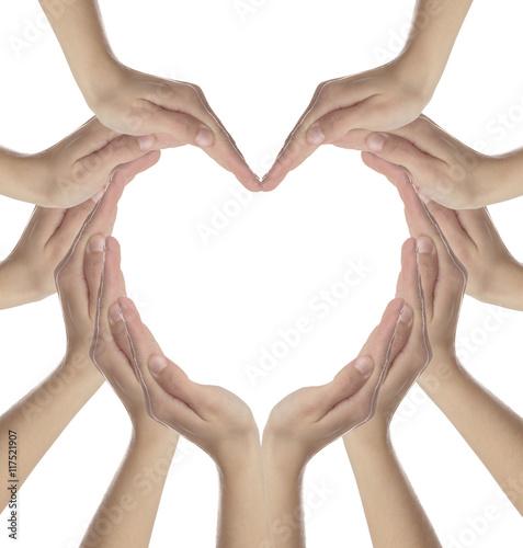 Fototapeta Hands in heart shape obraz na płótnie
