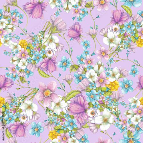 wzor-polne-kwiaty-na-fioletowym-tle