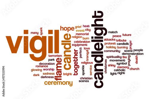 Fotografia  Vigil word cloud concept