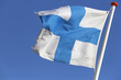 Finnish flag blowing in the wind