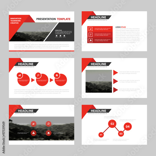 Business Presentation Templates, Infographic Elements Template Flat Design  Set For Brochure Flyer Leaflet Marketing Advertising