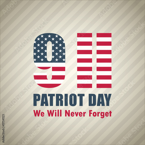 Poster  Patriot Day September 11, 2001 background