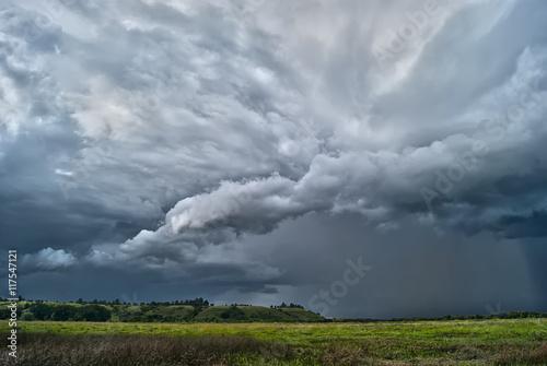 Foto op Canvas Onweer Буря