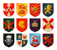 Collection Of Medieval Shields...