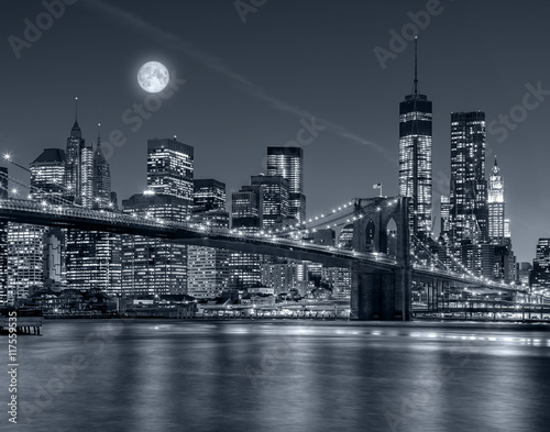 Fototapety, obrazy:  New York City at night