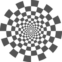 Vector Checkered Vortex Spiral...