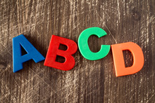 ABCD Spelling From Plastic Letters