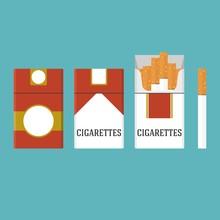 Set Of Vintage Cigarettes And ...