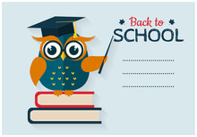 Back To School. Vector Card Wi...
