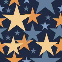 Fototapeta Kosmos Seamless vector background with decorative stars. Print. Cloth design, wallpaper.