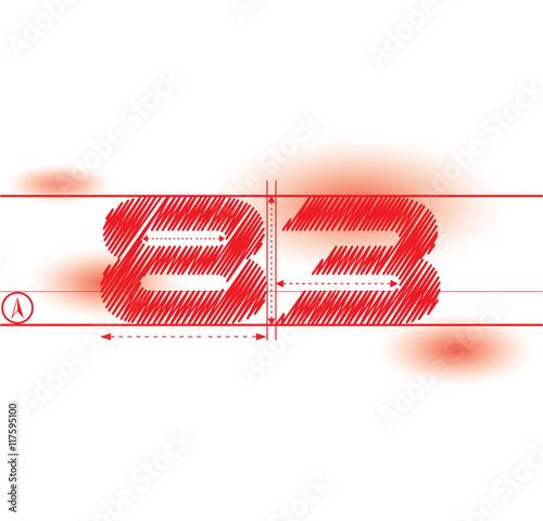 Fotografia  83 redprint font