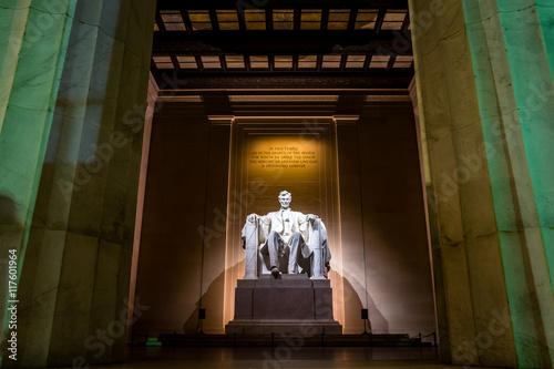 Fotografia  Abraham Lincoln Memorial at night